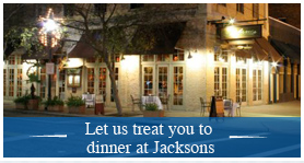 Let us treat you to Jackson's and talk more about your engagement