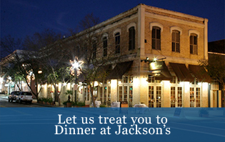 Let us treat you to dinner at Jacksons
